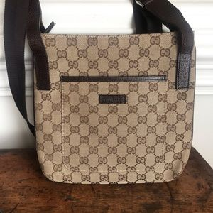 Authentic Gucci Monogram messenger bag